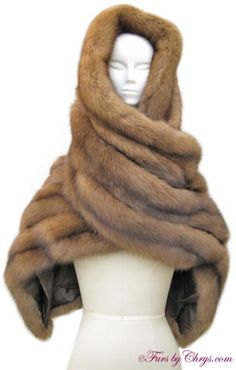 SOLD! I. Magnin Long Russian Sable Stole RS722; Like New Condition; Approx. size range: One Size Fits Most.  When you desire luxury at its finest, look no further than this Russian sable stole! fursbychrys.com
