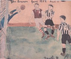 + John Lennon, ''Football watercolour'', 1952