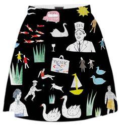 the printed peanut - paom skirt