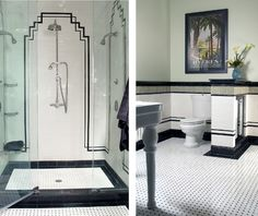 What a beautiful deco tile bathroom!