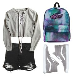"""No. 14"" by kirakirameru04 on Polyvore featuring Vans and Topshop"