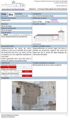 Fichas patológicas en restauración ~ Bloc de Notas en Edificación
