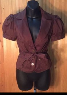 Victorias Secret LONDON JEAN Chino Stretch Cocoa Brown JAcket Blazer Sz 4