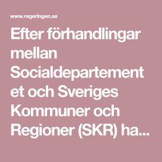 Efter förhandlingar mellan Socialdepartementet och Sveriges Kommuner och Regioner (SKR) har staten och SKR träffat en överenskommelse om jämlik och...