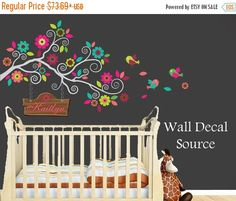 LAST CHANCE SALE Nursery Wall Decal Colorful by WallDecalSource