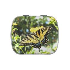 Yellow Swallowtail Butterfly Candy Tin #butterfly #yellow #photography #nature #favor #candy And www.zazzle.com/naturesmiles*