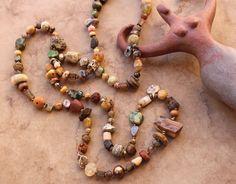 Rustic Earthy Prayer Beads + Meditation + Spirituality + Ancient + Antique + Desert Wabi Sabi + Designer Jewelry by DesertTalismans on Etsy