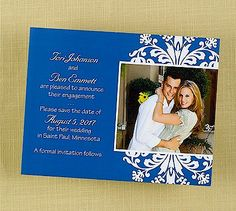 Floral Frame Save the Date CARD