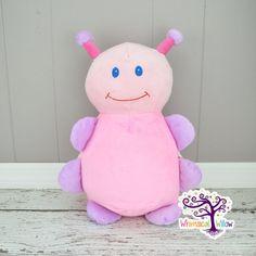 Pink Lavender Ladybug Stuffed Animal Cubbie