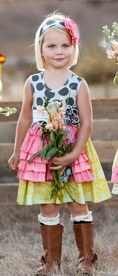 Giggle Moon Joy & Laughter Holly Girls Apron Dress