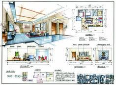 【考研】快题作品 Architecture Concept Drawings, Architecture Portfolio, Art And Architecture, Architecture Details, Interior Design Presentation, Architecture Presentation Board, Architect Drawing, Architect Design, Interior Design Sketches