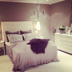 Romantic Classy Bedrooms Tumblr With Soft Fluffy Bedspread Also Modern White Tufted Headboard And Luxury Elegant Lamps Besides Large Contemporary Stylish Dresser  Beaufitul Girls Room Stuffs