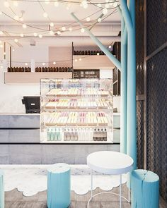 Home Decoration Online Shopping Code: 4868247316 Cupcake Shop Interior, Restaurant Interior Design, Modern Restaurant, Interior Shop, Dark Interiors, Shop Interiors, Colorful Interiors, Bar Laitier, Cafe Bar
