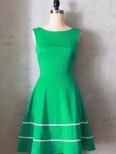 Coquette Dress in Emerald