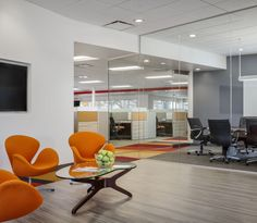 Check out this cool new #office space for United Mechanical by #WareMalcomb #SanFrancisco! #interiordesign #architecture
