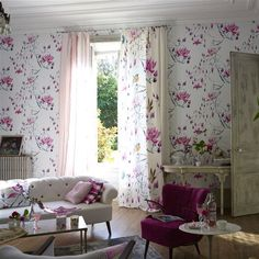 Madame Butterfly | Designers Guild wallpaper