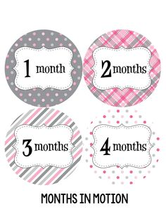 Baby month stickers are a great way to track your baby's growth through the first year. These monthly milestone stickers are a must have for every new mom. Place a photo sticker on your baby's one pie