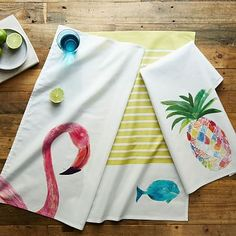 Tropical Tea Towels (Set of 3) #westelm