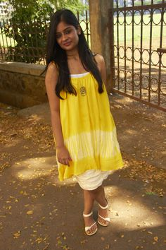 What to wear when you are tan #highstreet #style #fashion #blog #india #stylist #mumbai #OOTD #WhatIWore #yellow #tunic #skirt #tan #wear #white #beauty #look