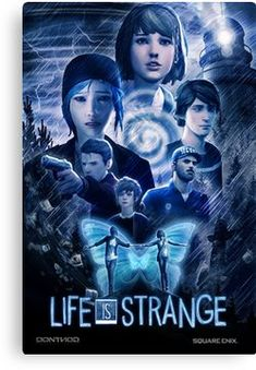 'Life is Strange - Cinematic Poster' Canvas Print by Trey Anderson Life Is Strange Wallpaper, Life Is Strange Fanart, Life Is Strange 3, Dontnod Entertainment, Netflix, Grunge, Butterfly Effect, Comic, Poster Pictures