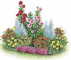 Heat Loving Perrenial Garden Plan