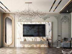 Living Room Tv Unit Designs, Home Design Living Room, Living Room Decor, Modern Classic Interior, Luxury Interior, Home Interior Design, Bedroom Furniture Design, Bathroom Design Luxury, Elegant Home Decor