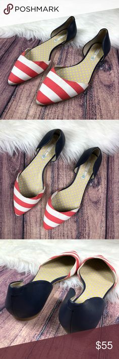 Boden Vienne Pointy Flats Size 42 in EUR, 10 in US. These flats are basically brand new, worn about once though it does have minor flaws. There are tiny stains and on the bottom soles they been walked for a little amount of time. See pictures for details Boden Shoes Flats & Loafers