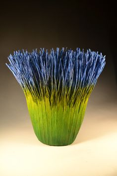 'Spring Blue' - by Fiber artist Mary Merkel-Hess.-