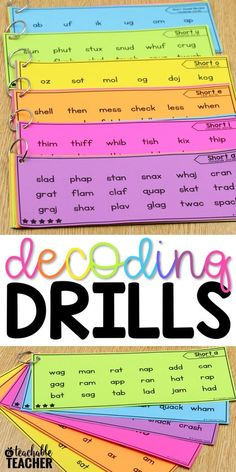 Decoding drills for fluency are a perfect and fun way for kindergarten and first graders to practice decoding words. They help build speed and automaticity, which improves reading fluency. They also make great reading intervention activities. I love that they are differentiated and include real and nonsense words.