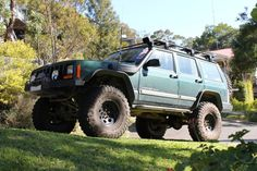 Jeep Cherokee XJ mood - Rear LED work light, 100/130W headlights, 55W HID driving lights, LED rock lights, all LED lights for interior lights. - Snorkel, dual battery system with two 650CCA batteries. - GME UHF CB, two 0.5W handhelds for out of the Jeep spotting etc. - In car PC with Oziexplorer for offroad and Garmin Mobile PC on road as well as Centrafuse for the front end and reversing camera. Also has bluetooth connection to the ODBII connector with digital gauges etc on in car PC.
