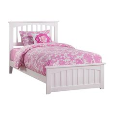 Mission White Twin XL Traditional Bed with Matching Foot Board, Brown