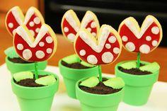 Super Mario Bros. Piranha Cookie Pops by Rosanna Pansino | Nintendo NES Nerdy Nummies Food Craft