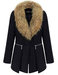 Yacun Women's Elegant Coat with Detac…