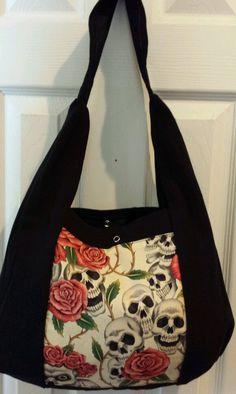 """Dia de los Muertos tote/hand bag 15""""x12"""""""