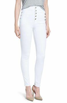 f544699b24abf J Brand  Natasha Sky High  High Rise Skinny Jeans (Blanc)