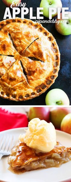 EASY Homemade Apple Pie | No one will ever know you cheated just a tiny bit. This Apple Pie is TO-DIE-FOR! Great way to use up fresh apples.