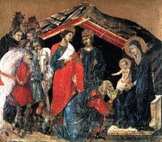 LA ADORACIÓN DE LOS REYES MAGOS Duccio di Buonisegna