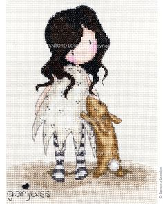 Gorjuss Counted Cross Stitch Kit - I love you little rabbit - Santoro London