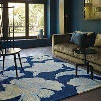 Wedgwood Vibrance Navy 37408 hand-tufted rugs made with Wool & Viscose. Available today as part of our price-match promise. Rug Direct, Rug Design, Global Home, Navy Rug, Blue Rug, Wedgwood, Childrens Rugs, Interior Design, Contemporary Rug