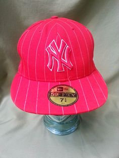 7c7ea991b8f New York Yankees Red Pinstripe Fitted Hat by New Era