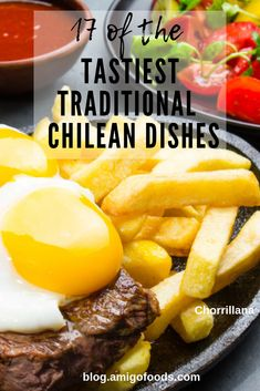 If youre looking for new South American dishes to try check out our list of 17 of the most scrumptious Chilean cuisine. These tasty meals are guaranteed to be delicioso! Chilean Recipes, Cuban Recipes, Beef Recipes, Chilean Food, Spanish Recipes, Recipies, South American Dishes, Latin American Food, Latin Food