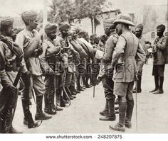 Indian troops replacing 10,000 British troops captured by the Turks in Iraq. 1916. The British forces were surrounded by the Turks in the Battle of Kut-al-Amara in April 1916.