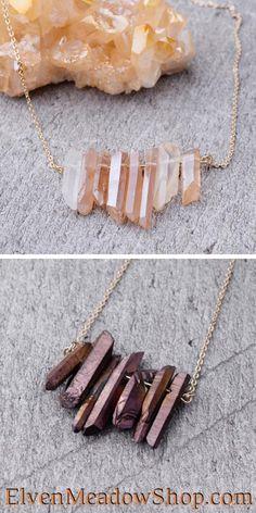 Witch Jewelry, Bead Jewelry, Crystal Jewelry, Crystal Earrings, Diy Jewelry, Gemstone Jewelry, Jewelry Making, Diy Quartz Earrings, Beaded Earrings