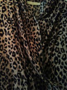 Vintage Josephine Chaus animal print blouse. Available April 21st at an Atlanta estate sale.