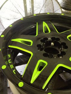 Fuel Full blown wheels! Custom painted green! Have your wheels custom painted!! #fuel #fuelwheels #greenwheels