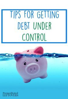 Tips for Getting Debt Under Control- Here are a few small changes you can make that will make a big difference when you are trying to reduce your debt.