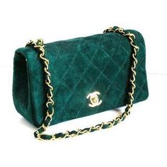 e572bdc9e2b0 Green channel purse Channel Purse, Channel Bags, Versace Handbags, Tote  Handbags, Leather