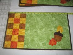 Quilted Placemats with Fall Applique