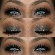 Image result for grey smokey eye blue eyes
