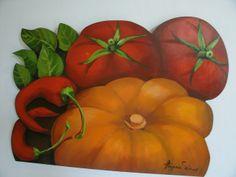 recorte  em mdf Gouache, Veggies, Pumpkin, Painting, Fruit, Photograph, Crafts, Canvas Frame, Craft Frames